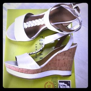 Franco Sarto White Wedges Sandal Heel